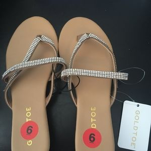 New Gold toe Crystal Sandals